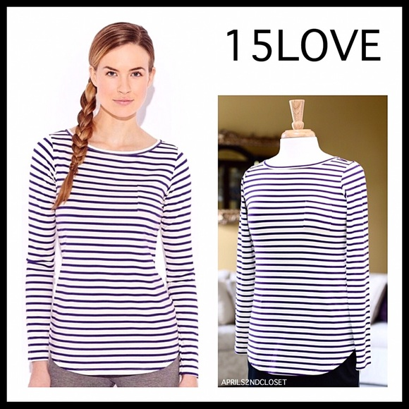 1159f9a135 15LOVE Tops | Luxe Knit Long Sleeves Striped Tshirt A2c | Poshmark